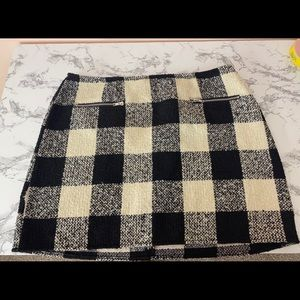 Plaid checkerboard skirt